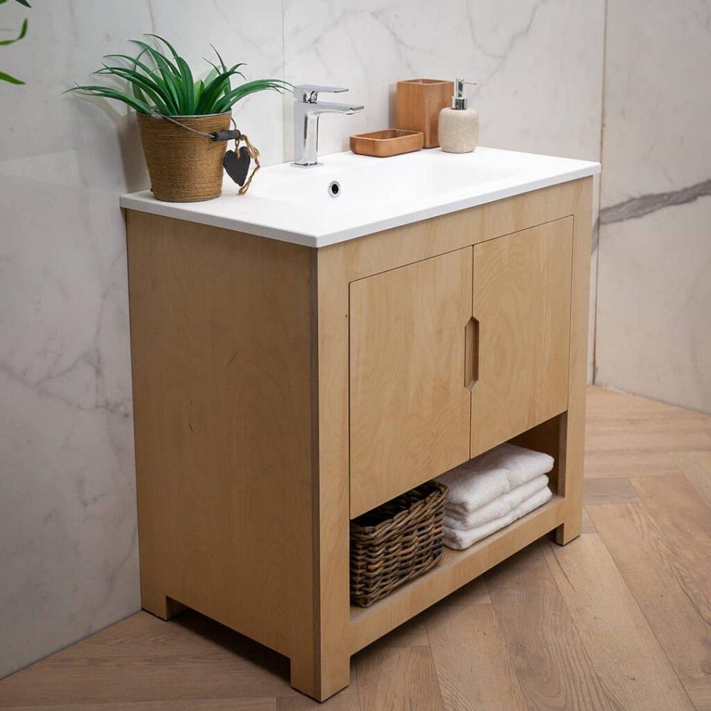 Ln Scandi Plywood Vanity Unit, Plywood For Bathroom